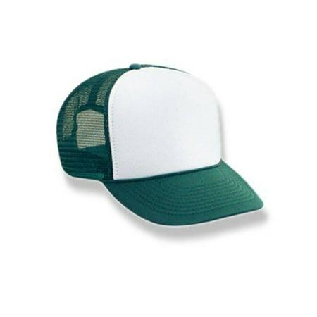 Retro Foam & Mesh Trucker Baseball Hat, Green/ - Shark Foam Hat