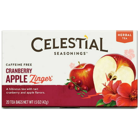 Cranberry Apple Herb Tea (Celestial Seasonings Cranberry Apple Zinger Natural Herbal Tea  20)