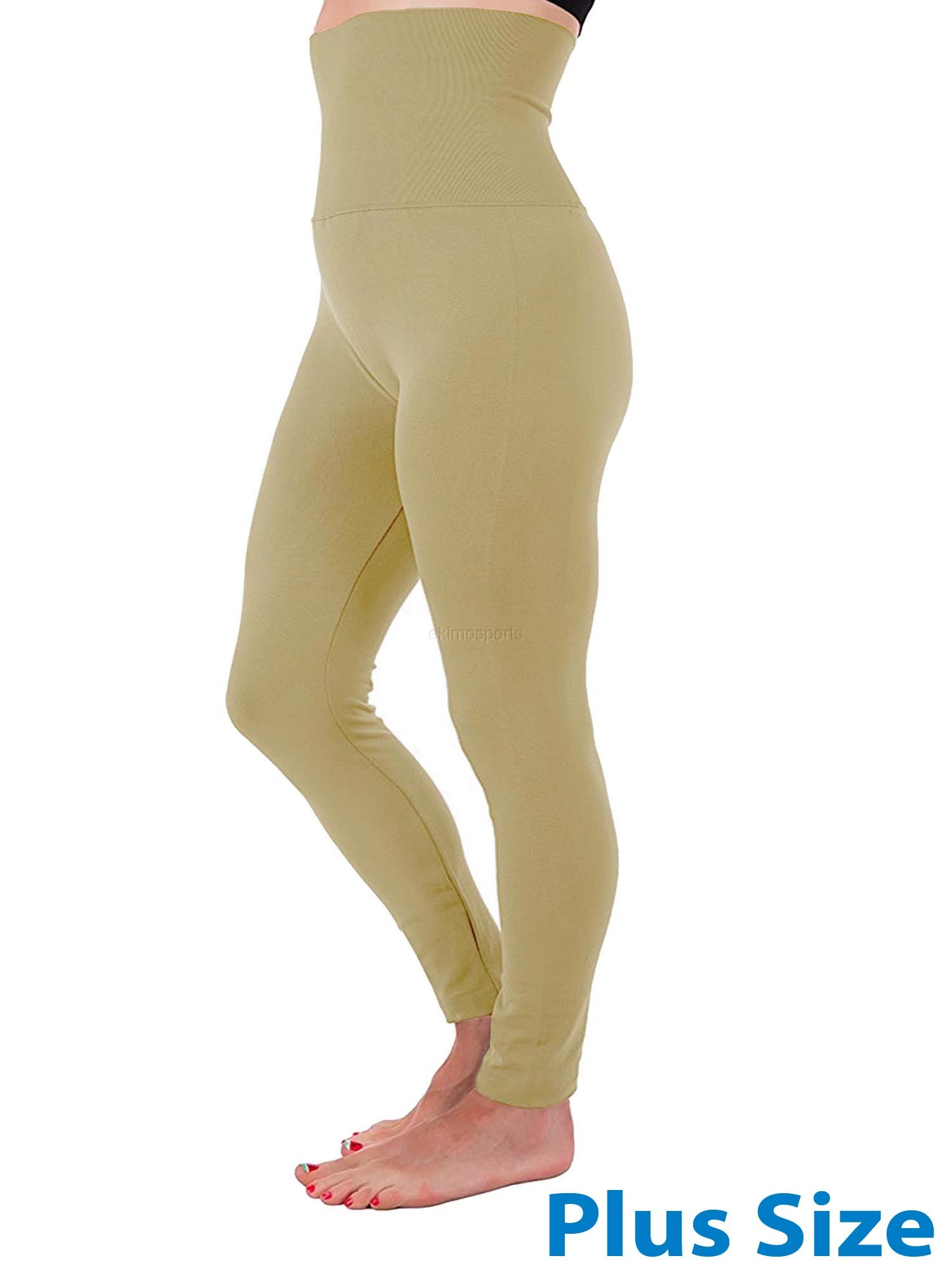 High Waist Tummy Control Full Length Legging Compression Top Pants Fleece Lined Plus Size XL 2XL