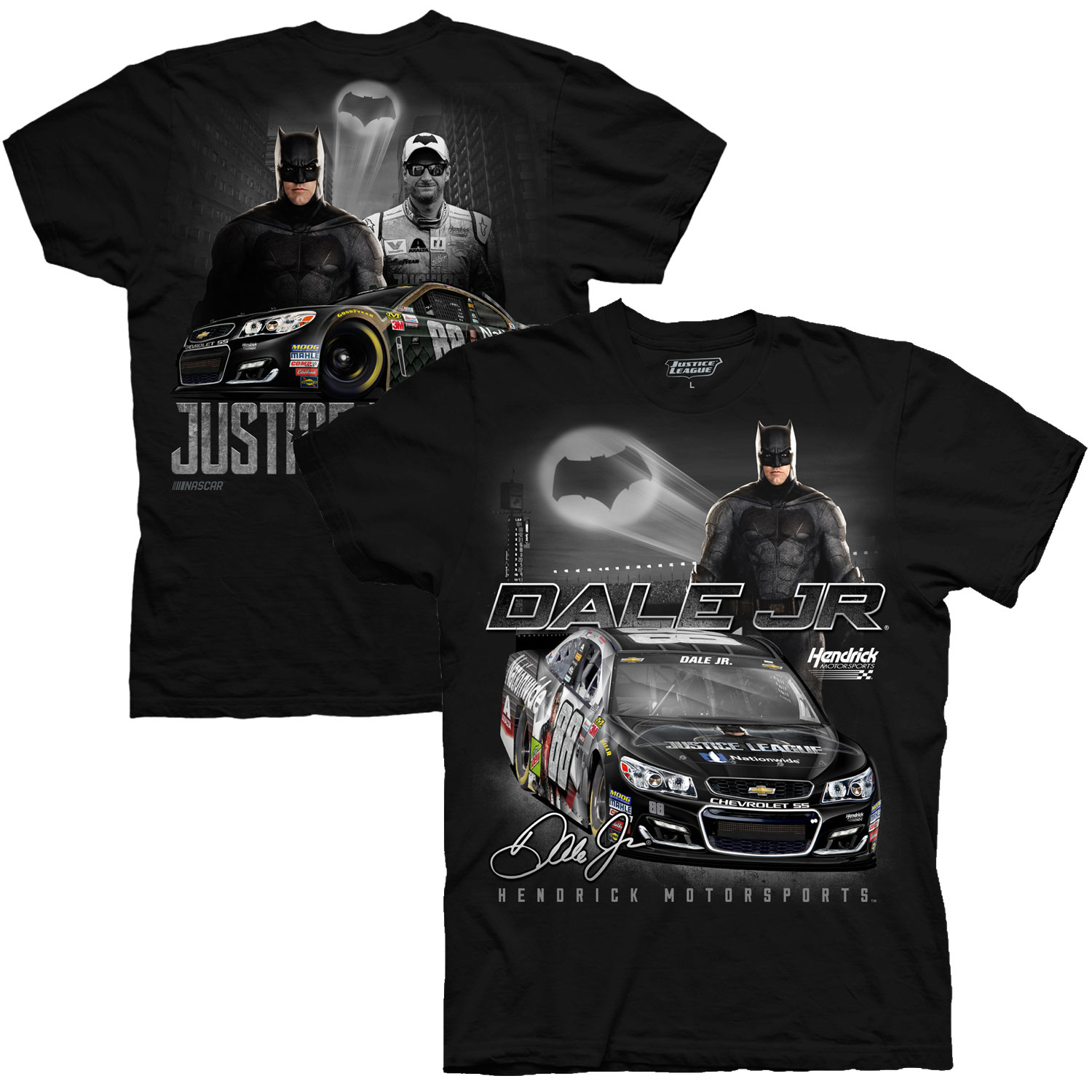 Dale Earnhardt Jr. Hendrick Motorsports Team Collection Justice League Batman Graphic T-Shirt - Black