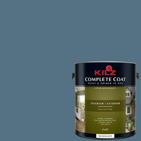Colonial Iron Finish (KILZ COMPLETE COAT Interior/Exterior Paint & Primer in One #RD130-02 Iron Medallion )