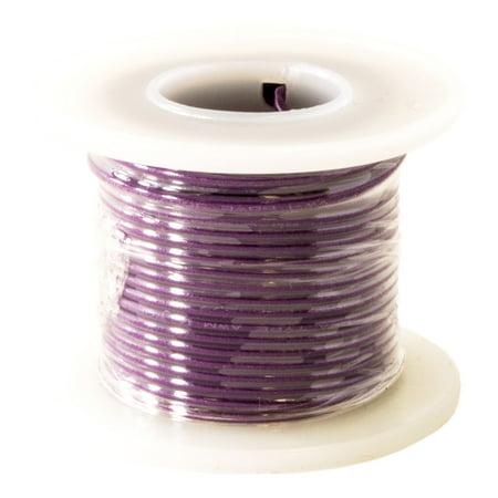 Hook Up Wire 22 Gauge Solid (25' / Purple)
