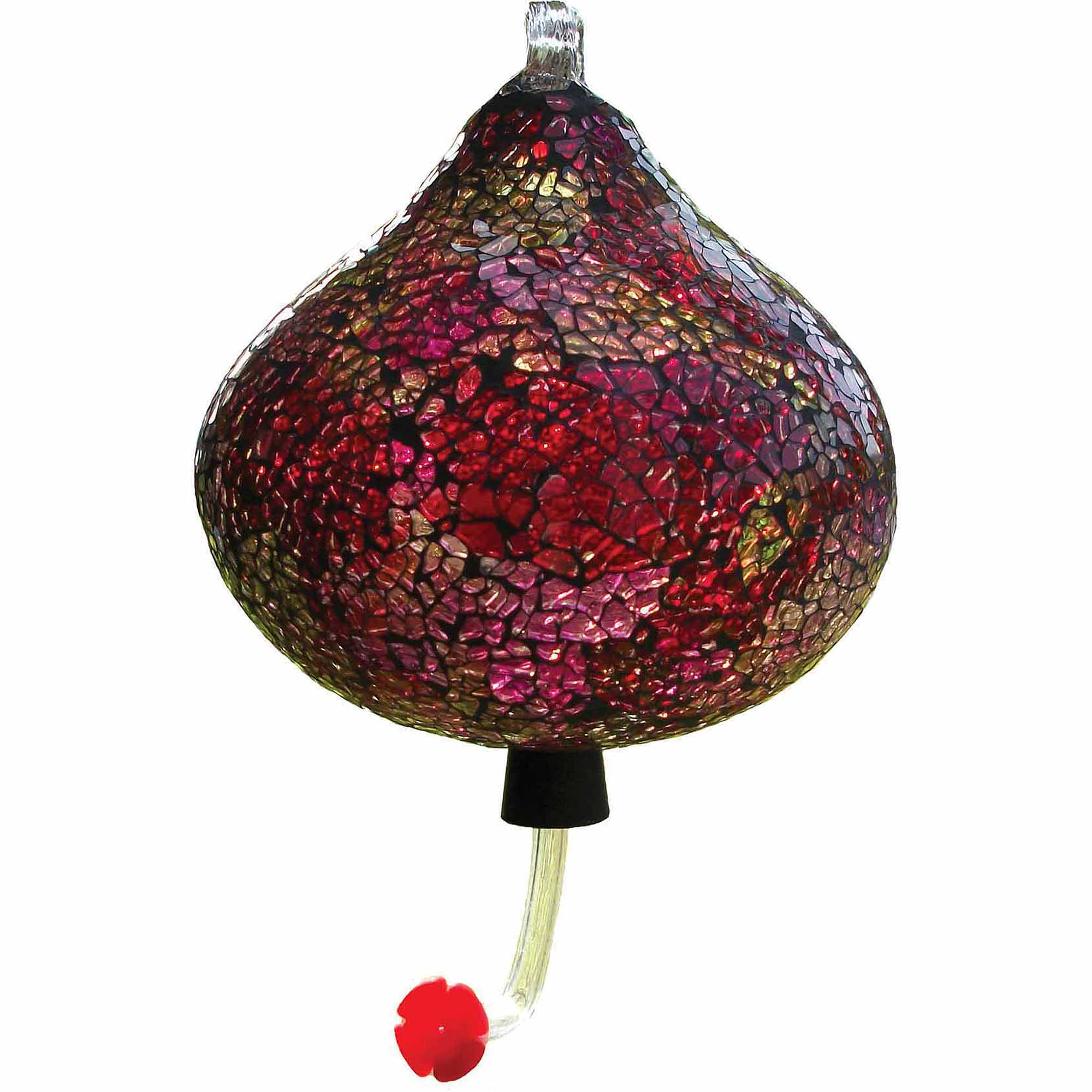 World Source Partners BA05727 Purple Mosaic Teardrop Hummingbird Feeder