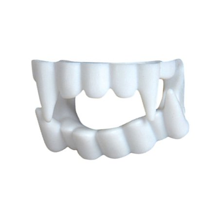 White Economy Plastic Costume Accessory Vampire Werewolf Fangs Teeth Kit (Halloween Costumes Vampire Teeth)