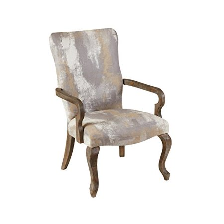 Astonishing Modhaus Living Transitional Queen Anne Style Neutral Color Abstract Print High Back Accent Occasional Chair With Reclaimed Wood Frame Gmtry Best Dining Table And Chair Ideas Images Gmtryco