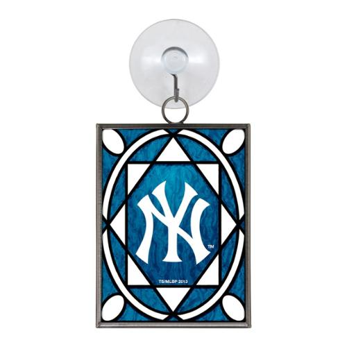 New York Yankees Official MLB 3 inch  Stained Glass Christmas Ornament by Topperscot