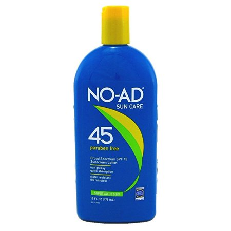 No-Ad Sunscreen Lotion SPF 45, 16.0 Fl Oz