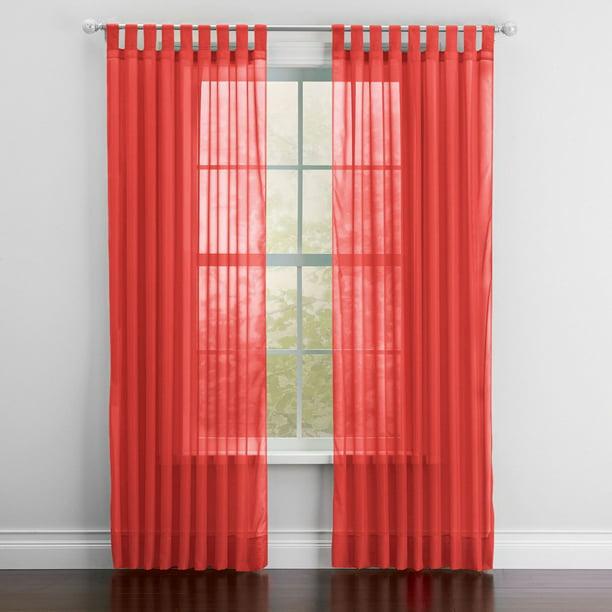 Brylanehome Sheer Voile Tab Top Panel Curtain Window Drape Walmart Com