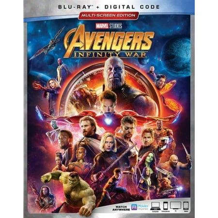 Avengers: Infinity War (Blu-ray + Digital Code) for $<!---->