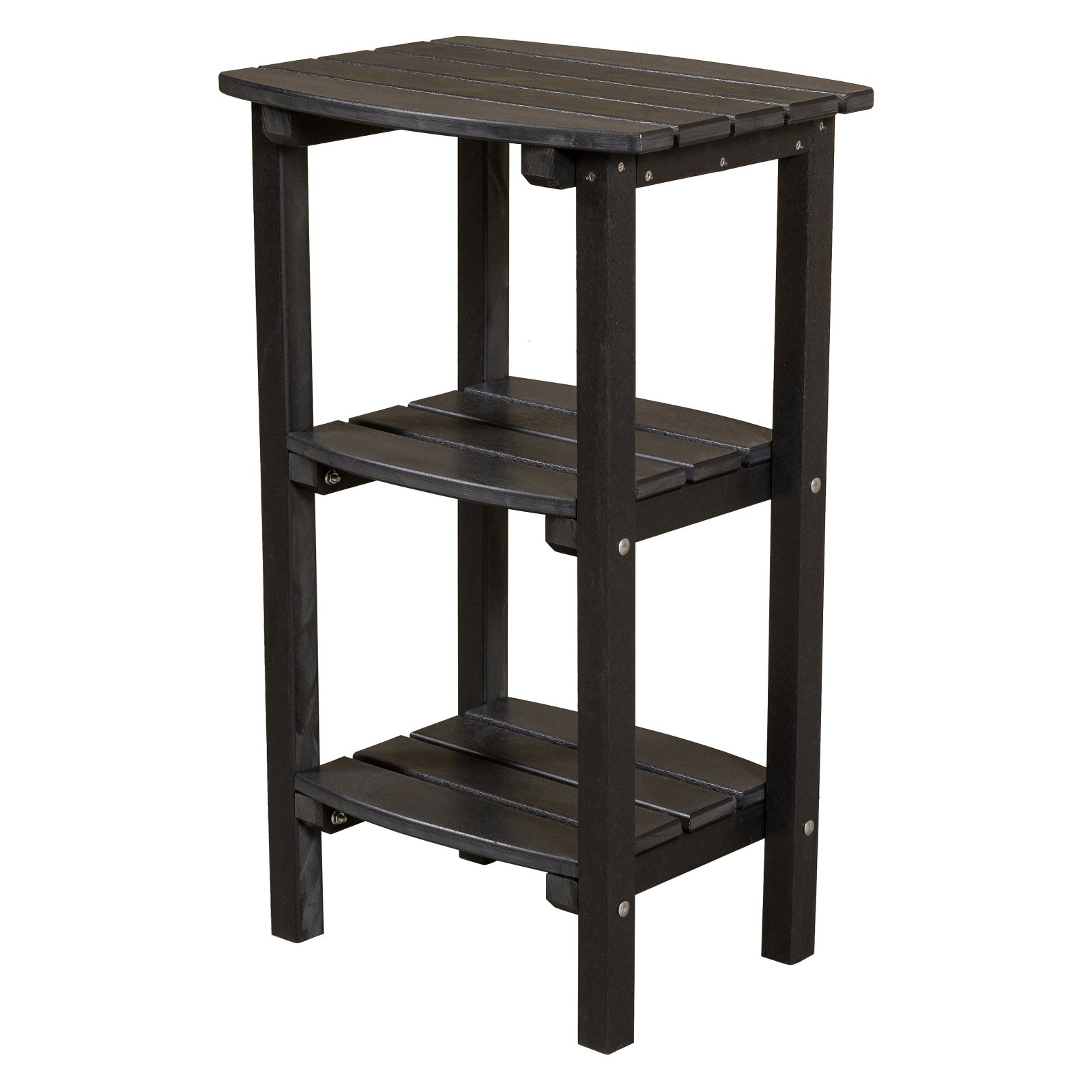WILDRIDGE Classic Adirondack Side Table with Shelves
