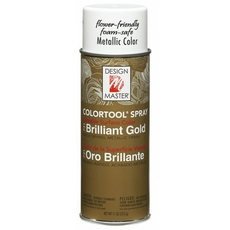 Design Master Colortool Metal Spray Paint 11oz-Brilliant Gold - image 1 de 1
