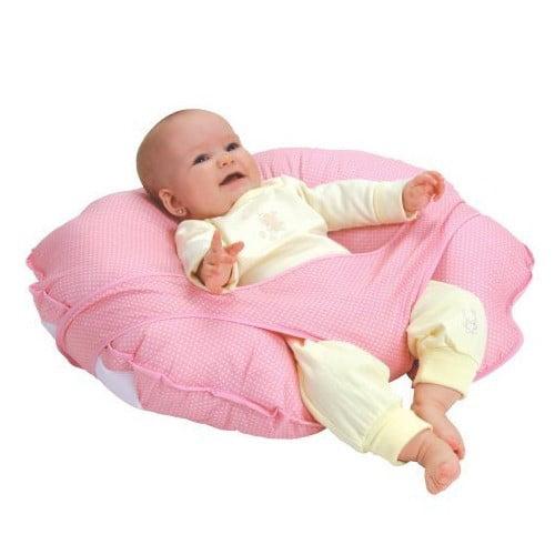 Leachco Cuddle-U Basic Nursing Pillow & More, Pink Pin Dot