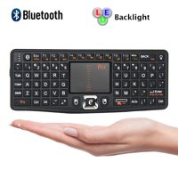 Rii Bluetooth Mini Qwerty Keyboard Adjustable DPI Touchpad for PC, HTPC, Apple, Xbox360, Wii, PS3, Black (N7 BT)