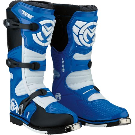 Moose Racing M1.3 Boots with MX Sole (Blue, 8)