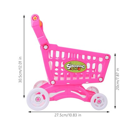 Mgaxyff Kids Shopping Cart Toy Children Pretend Role Play Food Fruits Playing Game, Kids Shopping Cart Toy, Kids Shopping Cart Description:This lovely children's shopping cart is eco-friendly, safe and durable.Its rich accessories will satisfy baby's curiosity and imagination and develop their knowledge of different fruits, vegetables and snacks, etc.It brings great joy and different experience to the baby.Features:Adopt high quality ABS material, eco-friendly, non-toxic, safe to baby.Has fine workmanship, it's smooth and mellow, it won't hurt hands while using it.The handle is in moderate size and has comfortable hand feel, suits baby's hands perfectly.This shopping cart helps to develop baby's recognition of different fruits and vegetables.It can also cultivate baby's imagination and creativity, promote brain development.Specification:Condition: 100% Brand NewItem Type: Children Shopping CartMaterial: ABSOptional Type: Rosy Red, Rosy Red with Food, Blue with FoodSize: Approx. 27.5*30.5*20cm/10.83*12.01*7.87inWeight: Approx. 254-456gPackage Included:1 * Children Shopping Cart with AccessoriesNote:1. Monitors are not calibrated same, item color displayed in photos may be showing slightly different from the real object. Please take the real one as standard.2. Please allow 0~1 inch error due to manual measurement. Thanks for your understanding.