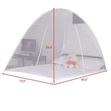 Gymax Portable Folding Mosquito Net Tent Bed Anti Zipper Mosquito Bites POP UP Net - image 6 de 9