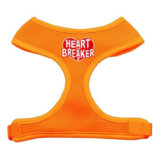 Mirage Pet Products 70-29 XLOR Heart Breaker Soft Mesh Harnesses Orange Extra Large