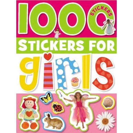 1000 Stickers for Girls - Adult Sticker Book