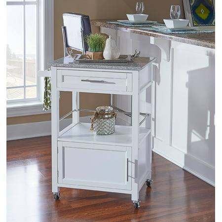 Linon Mitchell Kitchen Cart with Granite Top, 36 inches High, Multiple Colors