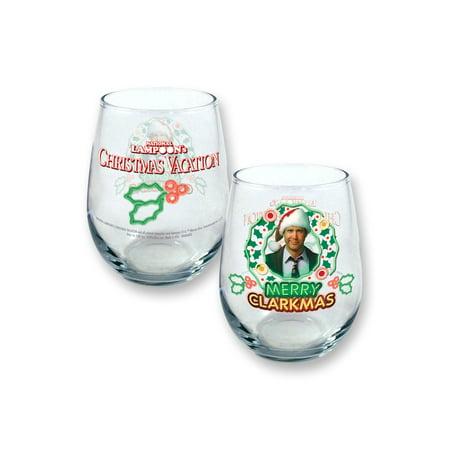 Christmas Vacation Merry Clarkmas 21oz Stemless Wine Glass ()