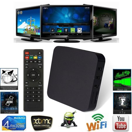 Cheerwing Quad Core Android Smart Sets TV BOX XBMC KODI Full Loaded Media Player 1080P