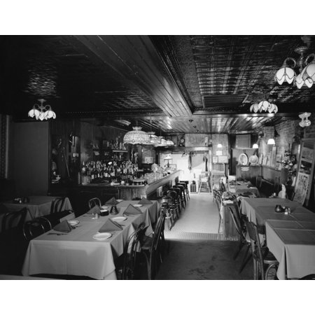 Stretched Canvas Art - Baltimore: Restaurant. /Nthe Interior Of ...