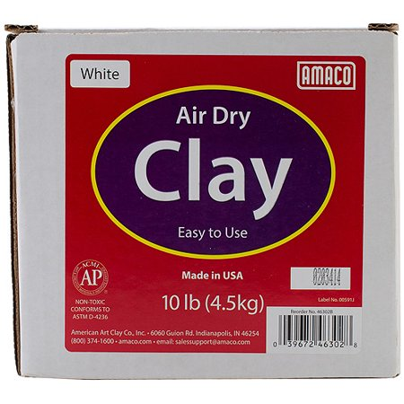 Image of 10lb Air-Dry Modeling Clay - White, Multi-Colored