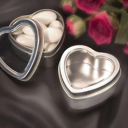 Heart Shaped Boxes/Mint Tins, B P ready to be filled with Jordan Almonds, mints or any Number of surprises, these mint tins heart shaped Boxes can pull at the.., By Fashioncraft for $<!---->