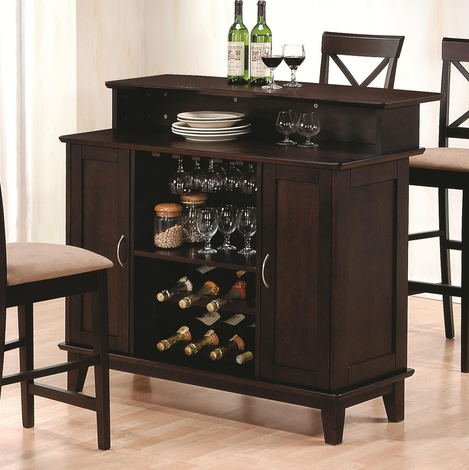Mix & Match Bar with Wine and Stemware Storage