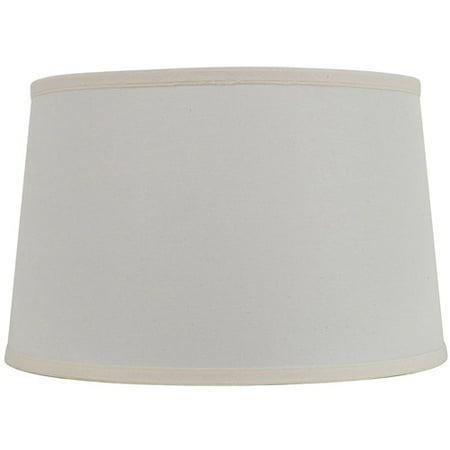 18 Mod Drum Off White Traditional Lamp Shade With Matching Double Fold Trim