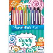 Paper Mate Candy Pop Flair Medium Felt Tip Pens 16/Pkg-Assorted