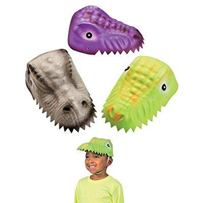molded child's dinosaur foam party hats - 12 pack assorted designs - Dinosaur Hat