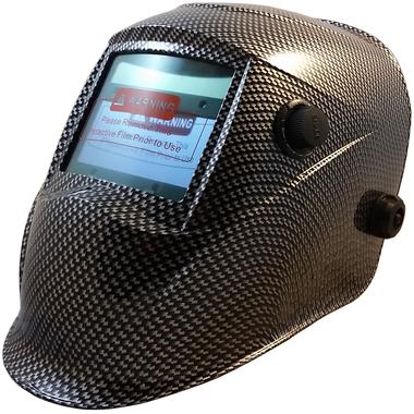Auto Darkening Welding Hoods - Carbon Fiber Hydro Graphic Pattern