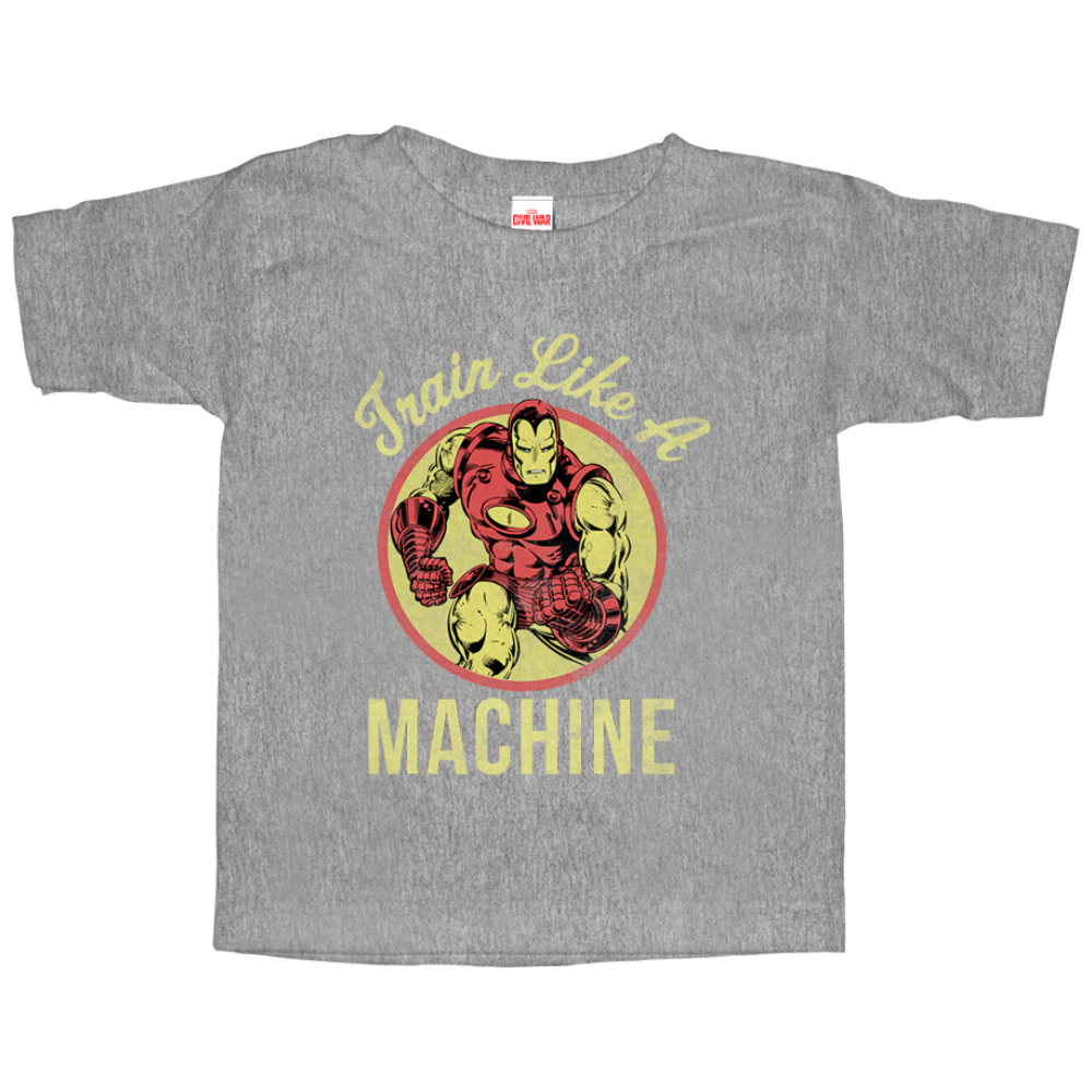 Marvel Toddler's Iron Man Train Like a Machine T-Shirt