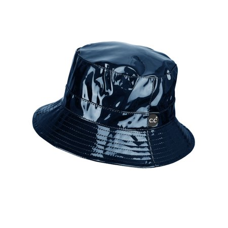 186f7d6cadcd0f C.C - C.C Women's All Season Foldable Waterproof Rain Bucket Hat, Navy -  Walmart.com