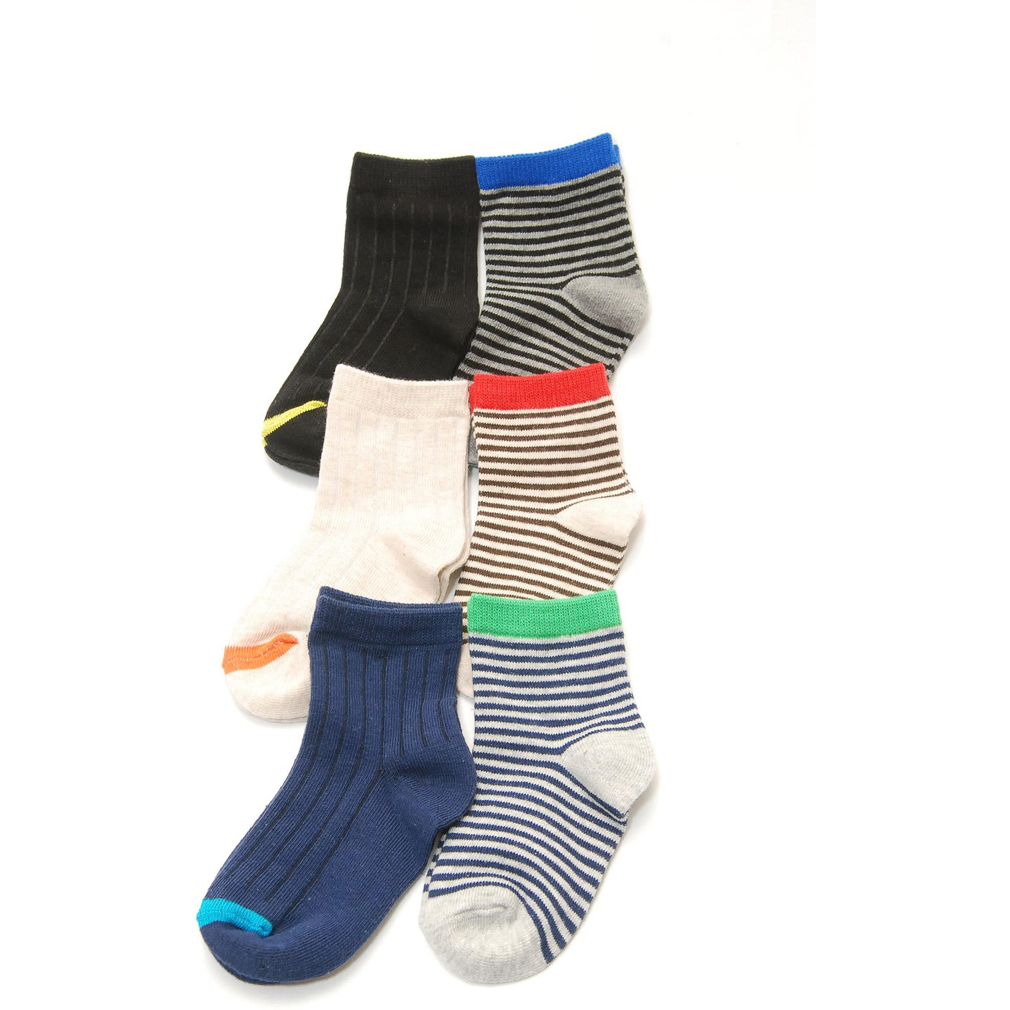 Garanimals Toddler Boy Assorted Socks, 6 Pairs