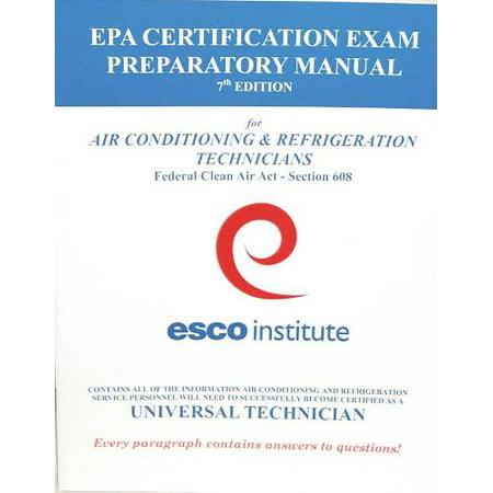 HVAC EPA 608 CERTIFICATION PREPARATORY MANUAL (ENGLISH) per 3 Each ...