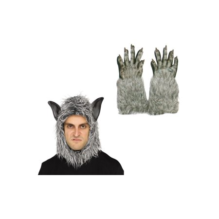 Wolf Beast Mask and Gloves Costume Set](Wolf Mask Kids)