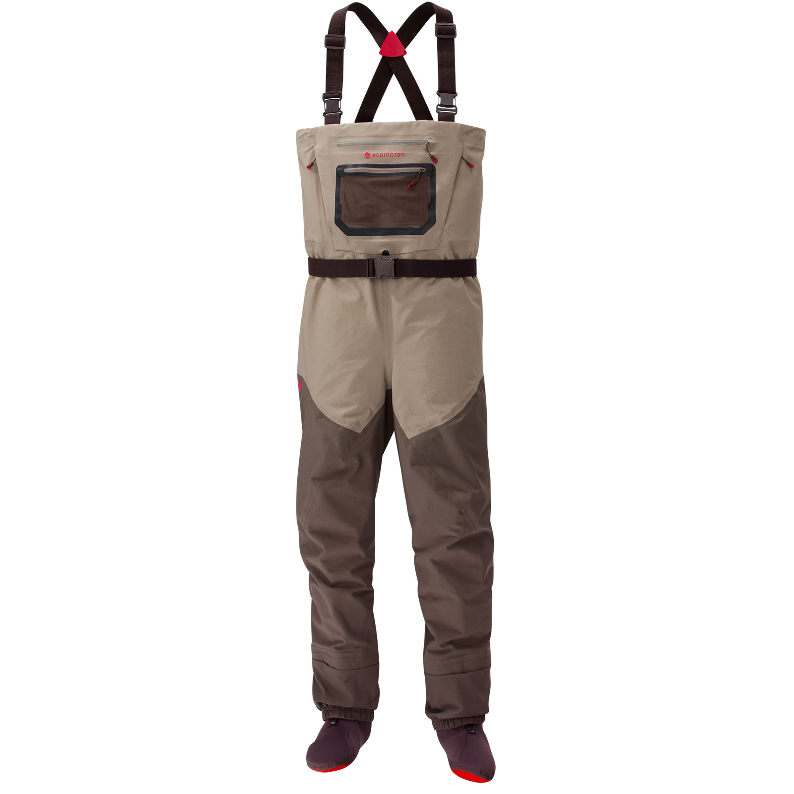 Redington Men's Sonic-Pro HD Stockingfoot Fishing Waders - Brown (L)