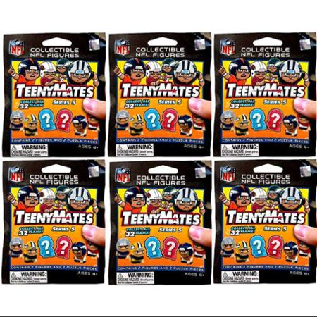 NFL TeenyMates Series 5 Linemen LOT of 6 Mystery Packs ()