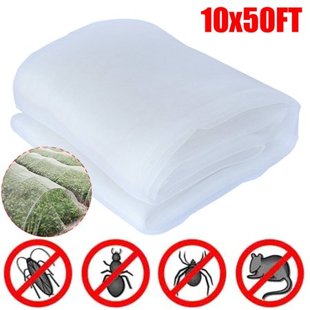 10Ft x 50Ft Mosquito Garden Bug Insect Against Netting Barrier Bird Hunting Net ()