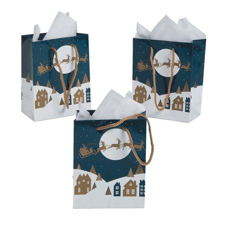 IN-13781940 Small Christmas Night Gift Bags Per Dozen