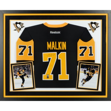 b2d1a981e Evgeni Malkin Pittsburgh Penguins Fanatics Authentic Deluxe Framed Autographed  Black Reebok Premier Jersey - No Size - Walmart.com