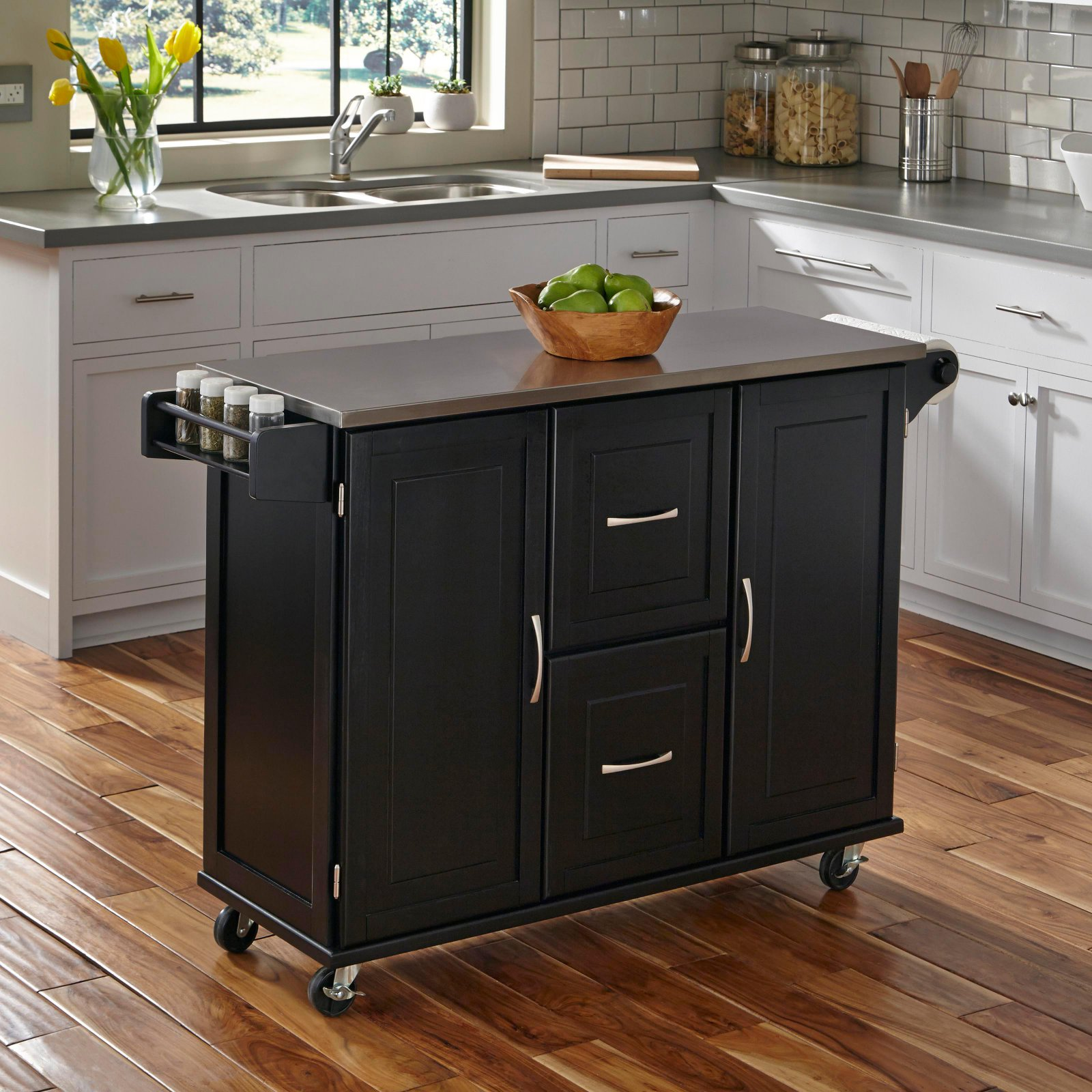 Patriot Kitchen Cart, Black by Home Styles