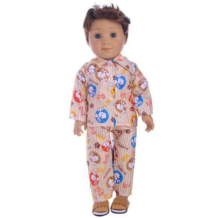 Nightwear Set for 18 Inch Boy Dolls Cute Mini Clothes Accessories 1 8 Inch Mini Jack