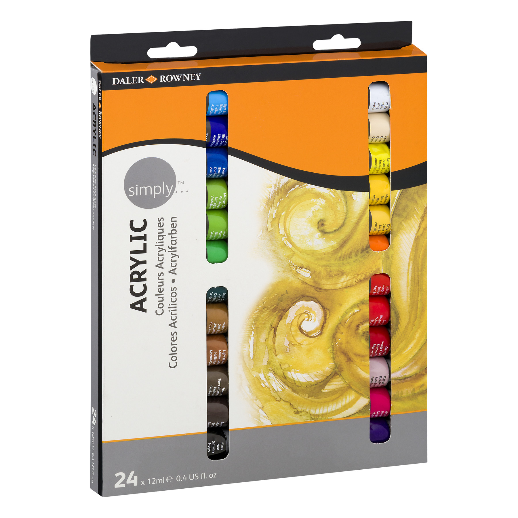 Daler - Rowney Simply Acrylic Paints - 24 CT0.4 FL OZ - Walmart.com