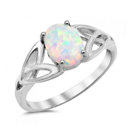 925 Sterling Silver Lab opal Gem Ring 925 Sterling Silver Lab