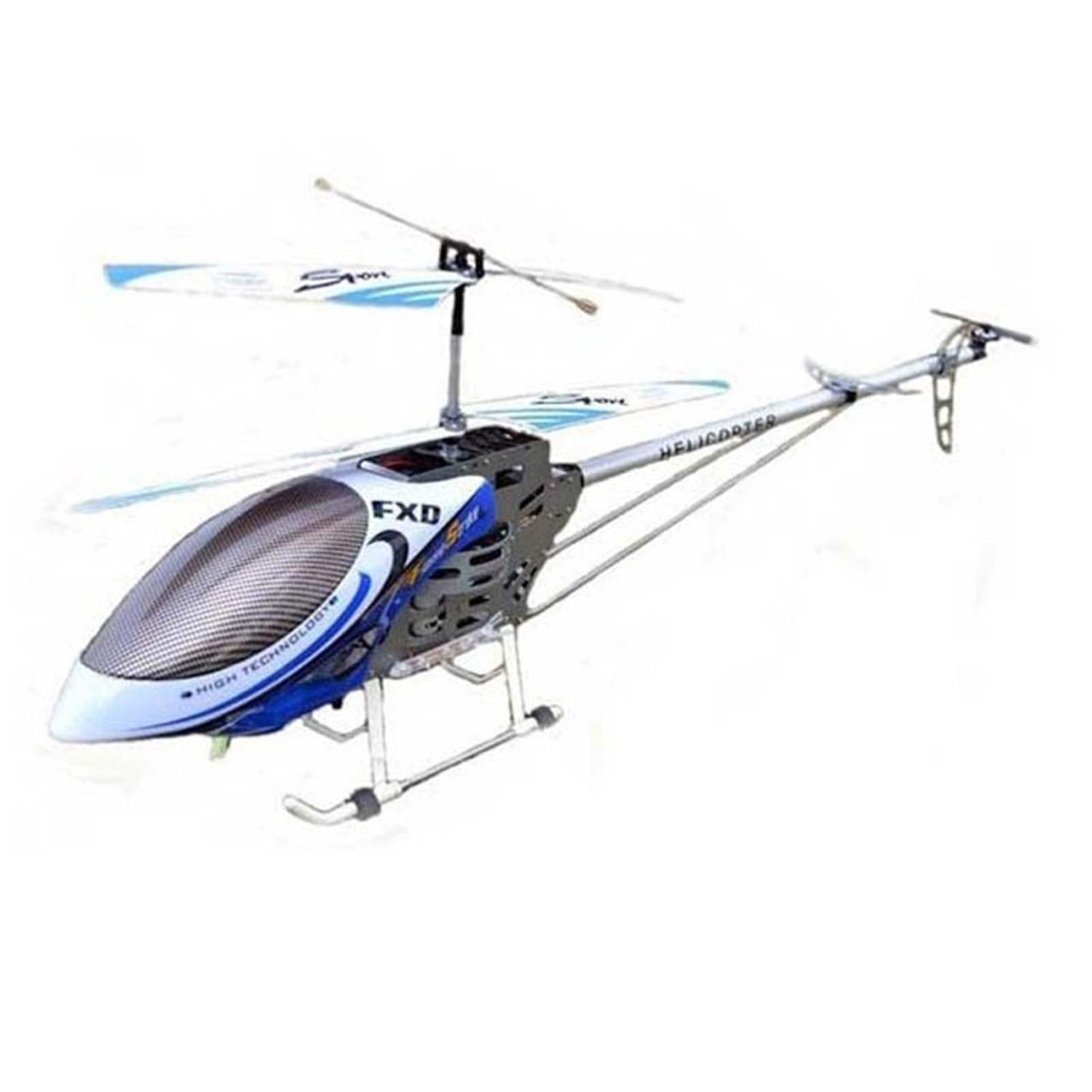 "49"" FXD 3.5 Channel Gyroscope Metal Frame RC Helicopter with LED lights! Blue (Gift Idea) by"