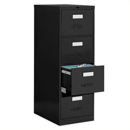 Global Office 4 Drawer Vertical Metal File Cabinet-Desert Putty