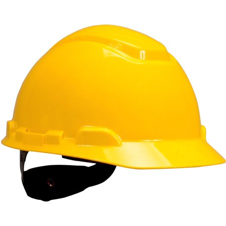 3M Hard Hat H-702R, Yellow 4-Point Ratchet Suspension,